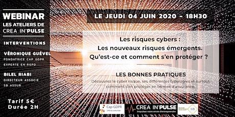 Webinar Créa In'Pulse Jeu 04 Juin 2020 à 18H30 Cyber-sécurité et assurances billets