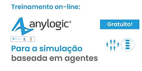 Treinamento GRATUITO E ON-LINE de Simulação Baseada em Agentes no AnyLogic bilhetes