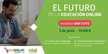 Webinar: El futuro de la educación online entradas