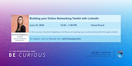 Building your Online Networking Toolkit with LinkedIn tickets