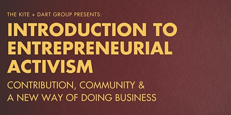Introduction to Entrepreneurial Activism billets