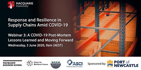 Response and Resilience in Supply Chains Amid COVID-19 tickets