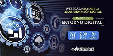 WEBINAR: CICLO DE LA TRANSFORMACIÓN DIGITAL FASE 2/5: ENTORNO DIGITAL entradas