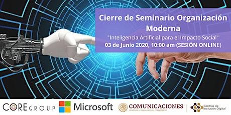 Inteligencia Artificial para ONGs (Cierre del Seminario) entradas