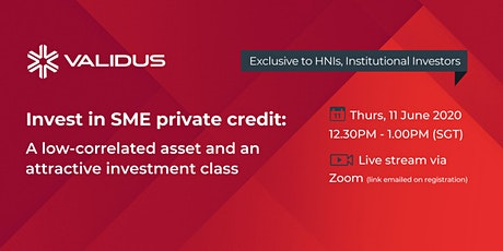 Webinar: Investing in SME Private Credit (exclusive to HNWIs) tickets