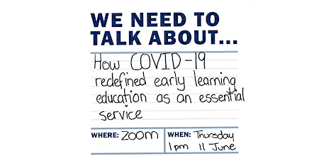 How COVID-19 redefined early learning education as an essential service tickets