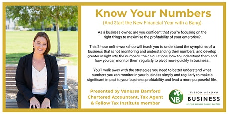 Know Your Numbers (And Start The New Financial Year With A Bang) tickets