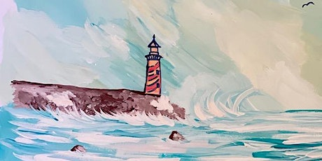 "Virtual Live Painting ""Lighthouse"" All supplies included tickets"