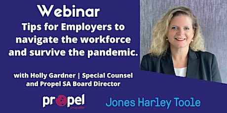 WEBINAR - Employment tips for Employers navigating through the pandemic tickets