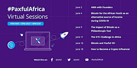 #PaxfulAfrica Virtual Sessions - Part V Tickets