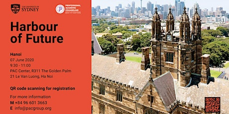 Harbour of Future - Gặp gỡ Đại diện tuyển sinh trường University of Sydney tickets