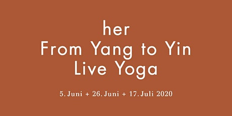 her From Yang to Yin Live Yoga Tickets