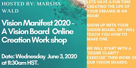 Vision Manifest 2020 - Online Vision Board  Creation Workshop tickets