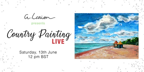 Country Painting LIVE - Acrylic Painting Tutorial - Beach in Folkestone tickets