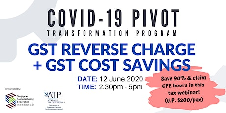 GST Reverse Charge + GST Cost Savings tickets