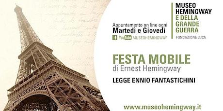 """Audiolettura di """"Festa Mobile"""" biglietti"""
