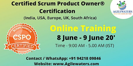 Certified Scrum Product Owner Certification Online Training tickets