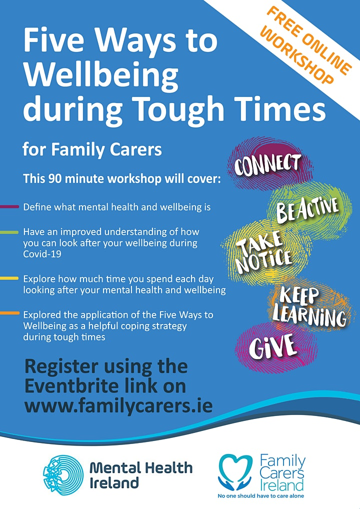 Five Ways to Wellbeing during Tough Times for Family Carers image