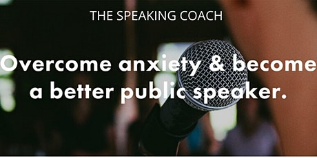 Overcome the anxiety, become a better speaker. In person, on stage, online. tickets