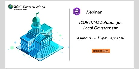 Webinar - iCOREMAS Solution for Local Government tickets