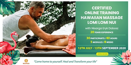 Certified Online Hawaiian Lomi Lomi Nui Massage Training with Nisarga tickets