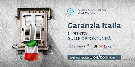 GARANZIA ITALIA: IL PUNTO SULLE OPPORTUNITA' biglietti