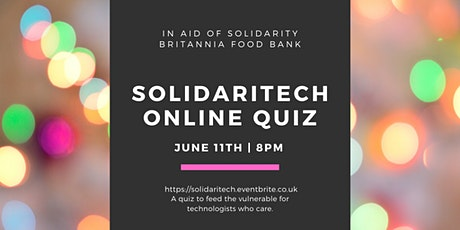 Solidaritech: A Quiz For People in Tech to Help Feed the Vulnerable tickets
