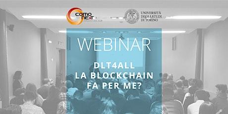 DLT4All – La blockchain fa per me? biglietti