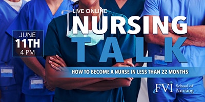 Online Nursing Talk: How to become a nurse in less than 22 months!