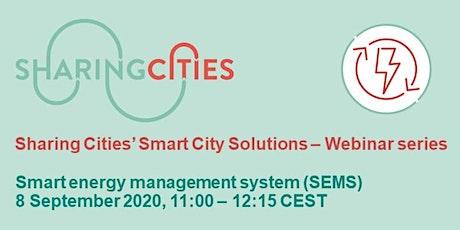 Sharing Cities' Smart City Solutions – Webinar Series: SEMS tickets