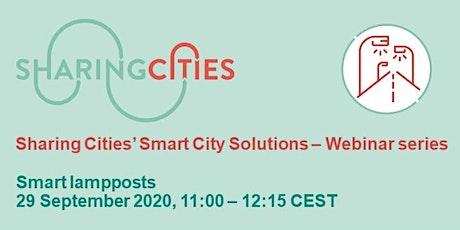 Sharing Cities' Smart City Solutions – Webinar Series: Smart lampposts biglietti