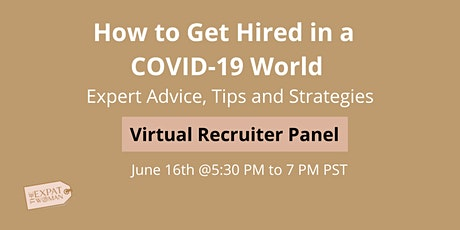 How to Get Hired in a COVID-19 world tickets