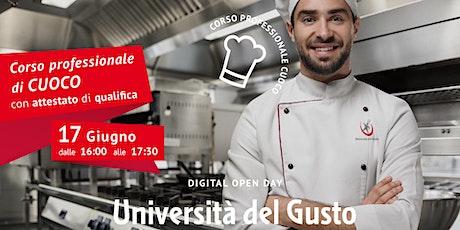 Open day Corso professionale di cuoco biglietti