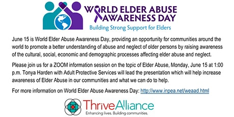 Elder Abuse Awareness and Prevention Session tickets