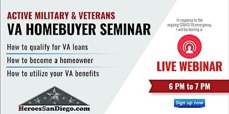 San Diego Military & Veterans VA Homebuyer Workshop Webinar tickets