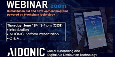 AIDONIC Platform Presentation - Zoom Webinar tickets