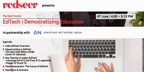 EdTech | Democratizing Education - The Next Frontier tickets