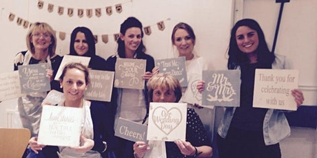 Virtual Hen Parties - Create and Paint Wedding Signs tickets