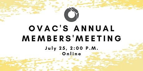 OVAC Annual Members' Meeting tickets
