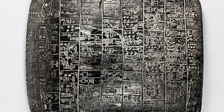 Sunday Language Seminar: Cuneiform (Sumerian and Akkadian) via Zoom tickets