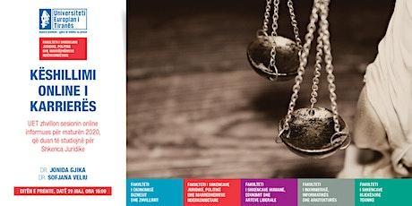 Studime në Shkenca Juridike UET/ Matura 2020 tickets