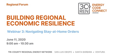 Navigating Stay at Home Orders: Building Regional Economic Resilience tickets