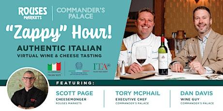 """Gulf Shores/Mobile  """"Zappy"""" Hour! Zoom Wine & Cheese Party biglietti"""