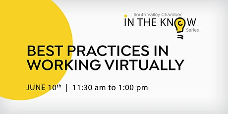 Best Practices in Working Virtually Tickets