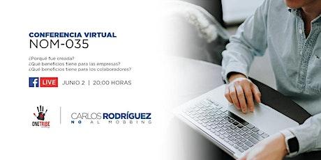 Conferencia virtual: NOM-035 boletos
