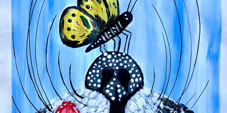 Butterfly on cat's nose- Free virtual family paint night tickets
