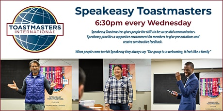 Speakeasy Toastmasters Weekly Meeting tickets
