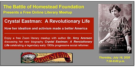 """Crystal Eastman: A Revolutionary Life"" - Author Meetup with Amy Aronson tickets"