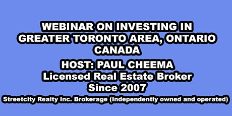 Learn How to Buy Residential and Commercial Property in Ontario, Canada tickets
