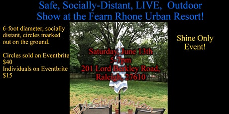 Safe, Socially-Distant, LIVE Outdoor Show at the Fearn Rhone Urban Resort tickets